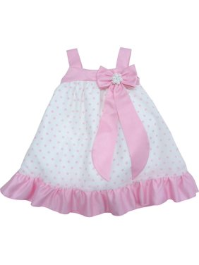 a2505f95f49 Free shipping. Product Image Little Girls Pink Ribbon Bow Brooch Polka  Dotted Flower Girl Dress
