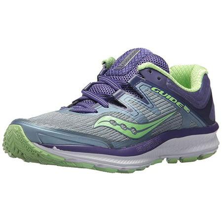 Saucony Women's Guide ISO Running Shoe, Fog/Purple, 11 W US](50s Shoes)