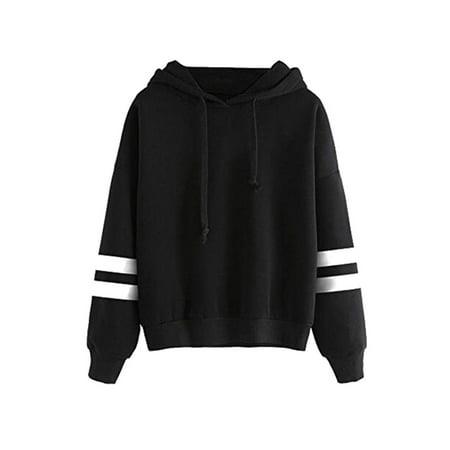 OUMY Women Long Sleeve Pullover Hoodie Tops Sweatshirt Jumper Long Sleeve Woven Pullover