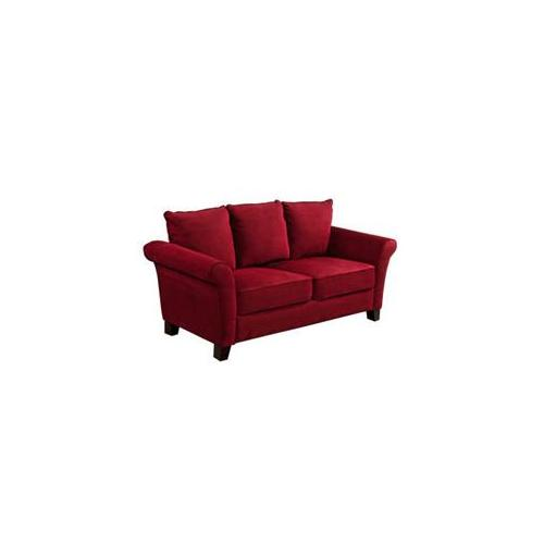 Handy Living Milan Crimson Microfiber Sofa