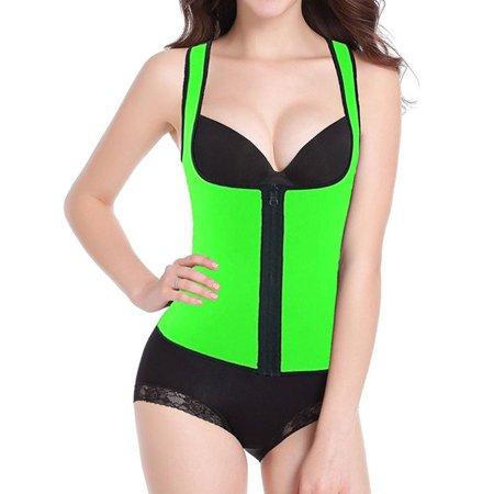 befb1c4685c SAYFUT - SAYFUT Women s Shapewear Slimming Vest Waist Trainer Body Shaper  Corset Hot Sweat Neoprene Weight Loss Tank Top Tummy Control Sauna Suit -  Walmart. ...