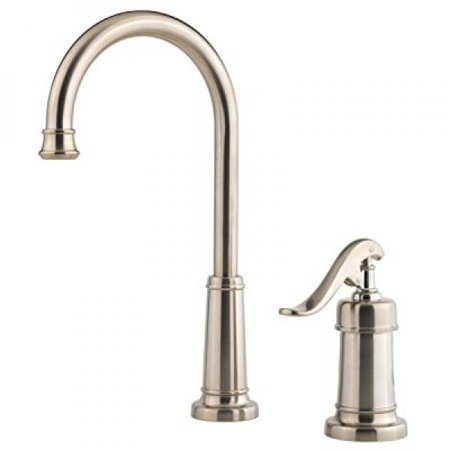 Pfister Ashfield 2 Kitchen Faucet LG72-YP2K Brushed Nickel With SoapDispenser
