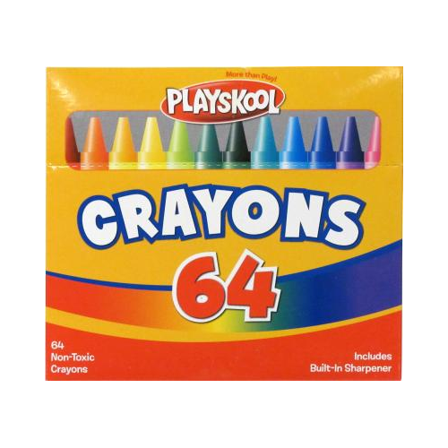 DDI Playskool Crayons with Sharpener, 64 Count