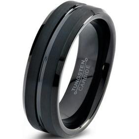 Brilliance Fine Jewelry Men S Black Tungsten 8mm Comfort Fit