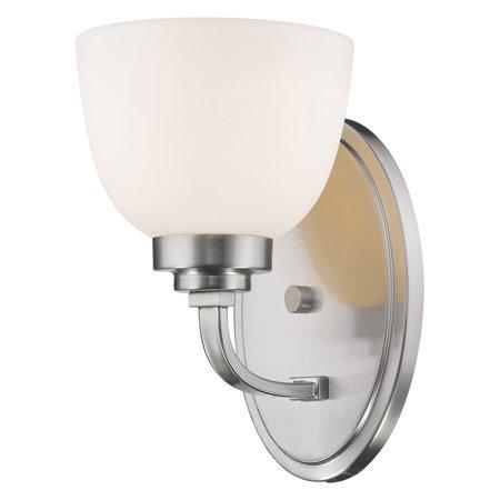 Z-Lite Ashton 1 Light Wall Sconce, Brushed Nickel, Matte Opal - 443-1S-BN