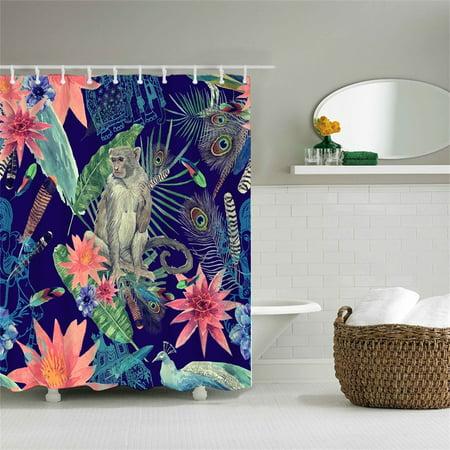 Fabric Bath Curtain For Bathroom With, Pea Bathroom Accessories