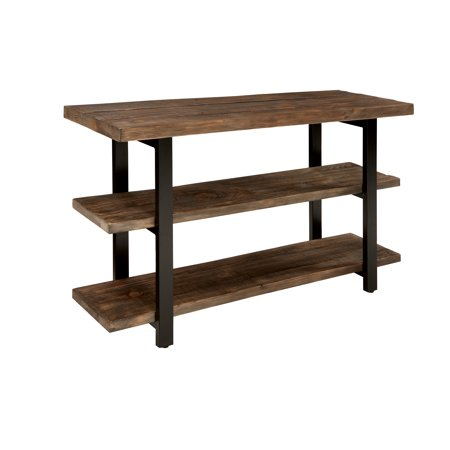 Pomona 2 Shelf Console Table Brown - Alaterre Furniture