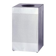 Rubbermaid Commercial Stainless Steel Hinged Top Receptacle by Newell Rubbermaid, Inc