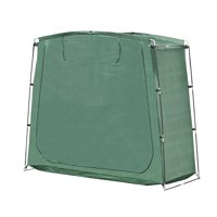 ALEKO SS70GR PE 64 Inch Tall Rectangular Space Saving Outdoor Bike Storage Tent, Green Color