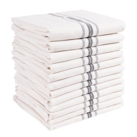 KAF Home Classic Farmhouse Stripe Kitchen Towels | Set of 12, 15