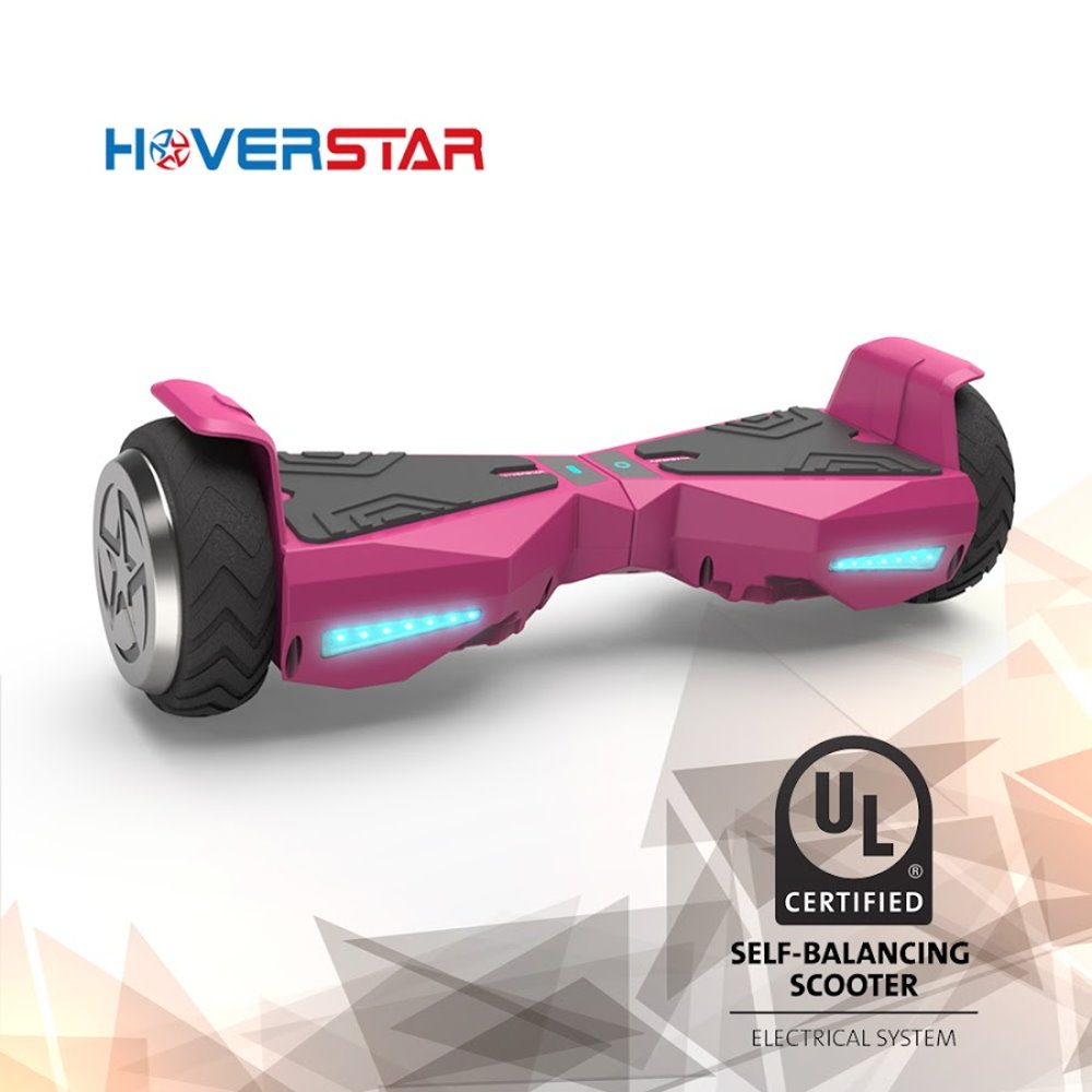 "6.5"" Metal Wheel Hoverboard Two-Wheel Self Balancing Electric Scooter UL 2272 Certified, Pink , New Design"