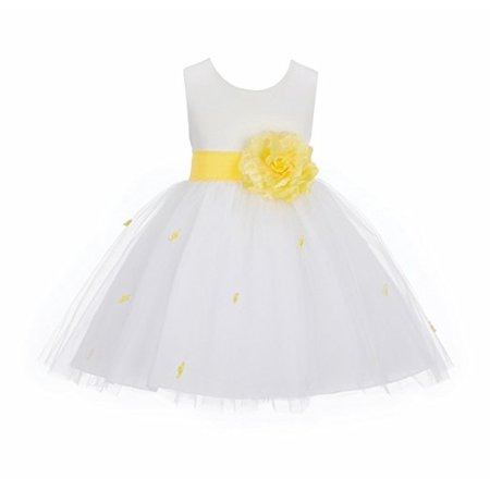 8898ede50e5 Ekidsbridal Ivory Rosebuds Rose Flower Girl Dresses Formal Special Occasion Dresses  Wedding Pageant Birthday Girl Party Junior Toddler Recital Reception ...