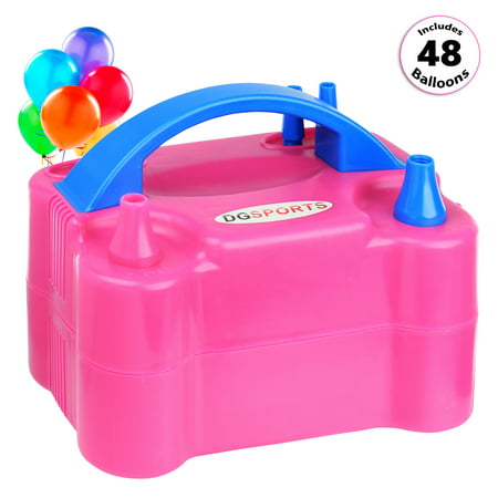Portable Dual Nozzle 600W 110V Electric Balloon Pump Inflator (Watercolor Balloons)