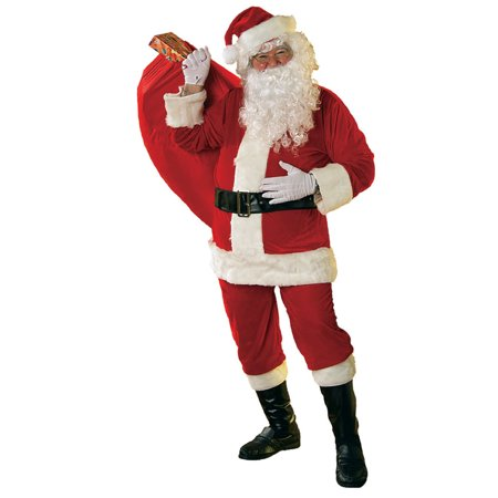 Soft Velour Santa Suit Adult Costume - XX-Large