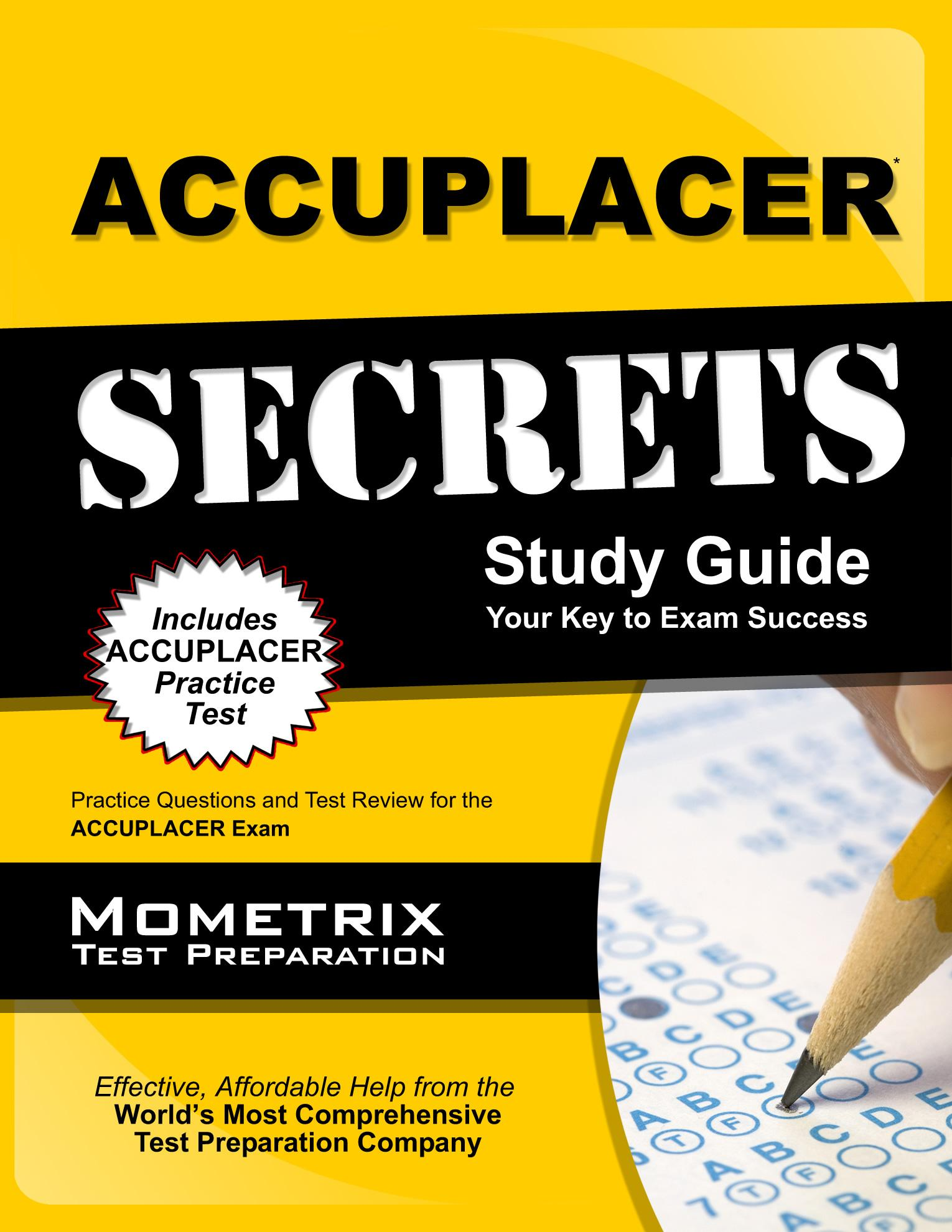 accuplacer secrets study guide practice questions and test review rh walmart com Accuplacer Test Review Elementary Algebra Accuplacer
