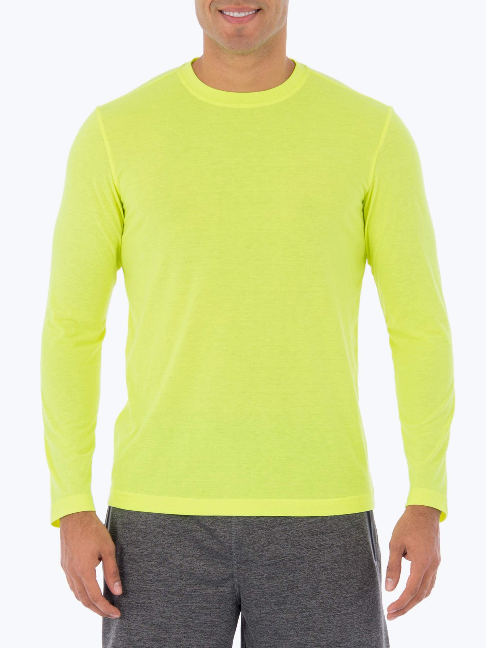 Athletic Work's Big Men's Performance Activewear Long Sleeve Crew Neck Tee Shirt