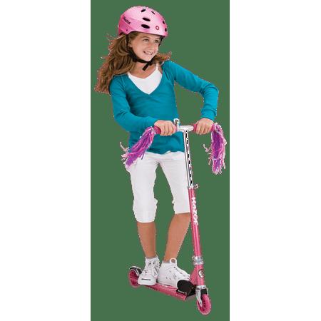 Razor A Sweet Pea Kick Scooter for Kids - Lightweight, Foldable, Aluminum Frame, and Adjustable Handlebars