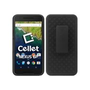 Cellet Shell/Holster/Kickstand Combo Case with Spring Belt Clip for Google Nexus 6P