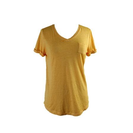 Sleeve V-neck Burnout Tee - Style & Co. Honey Glaze Short-Sleeve V-Neck Burnout Pocket Tee  L