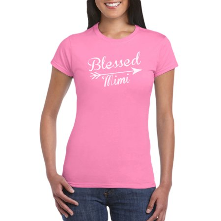 - Blessed Mimi T-Shirt Gift Idea for Women - Unique Birthday Present, Funny Gag for Grandma, Baby Shower, Newborn, Grandmother gift Idea