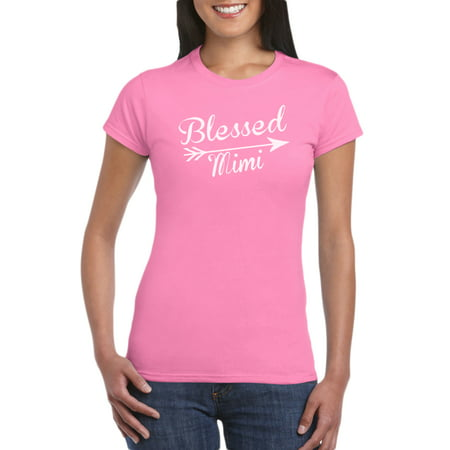 Blessed Mimi T-Shirt Gift Idea for Women - Unique Birthday Present, Funny Gag for Grandma, Baby Shower, Newborn, Grandmother gift Idea