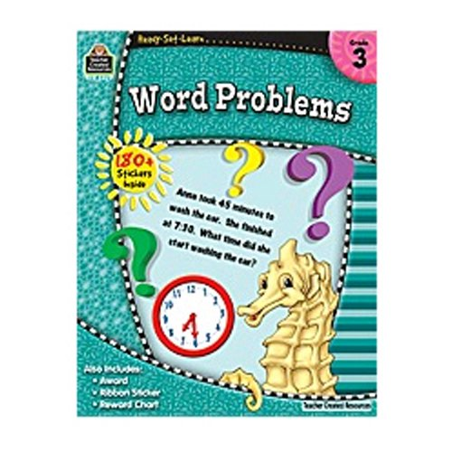 Teacher Created Resources Rsl Word Problems Grade 3 Book (Set of 3)