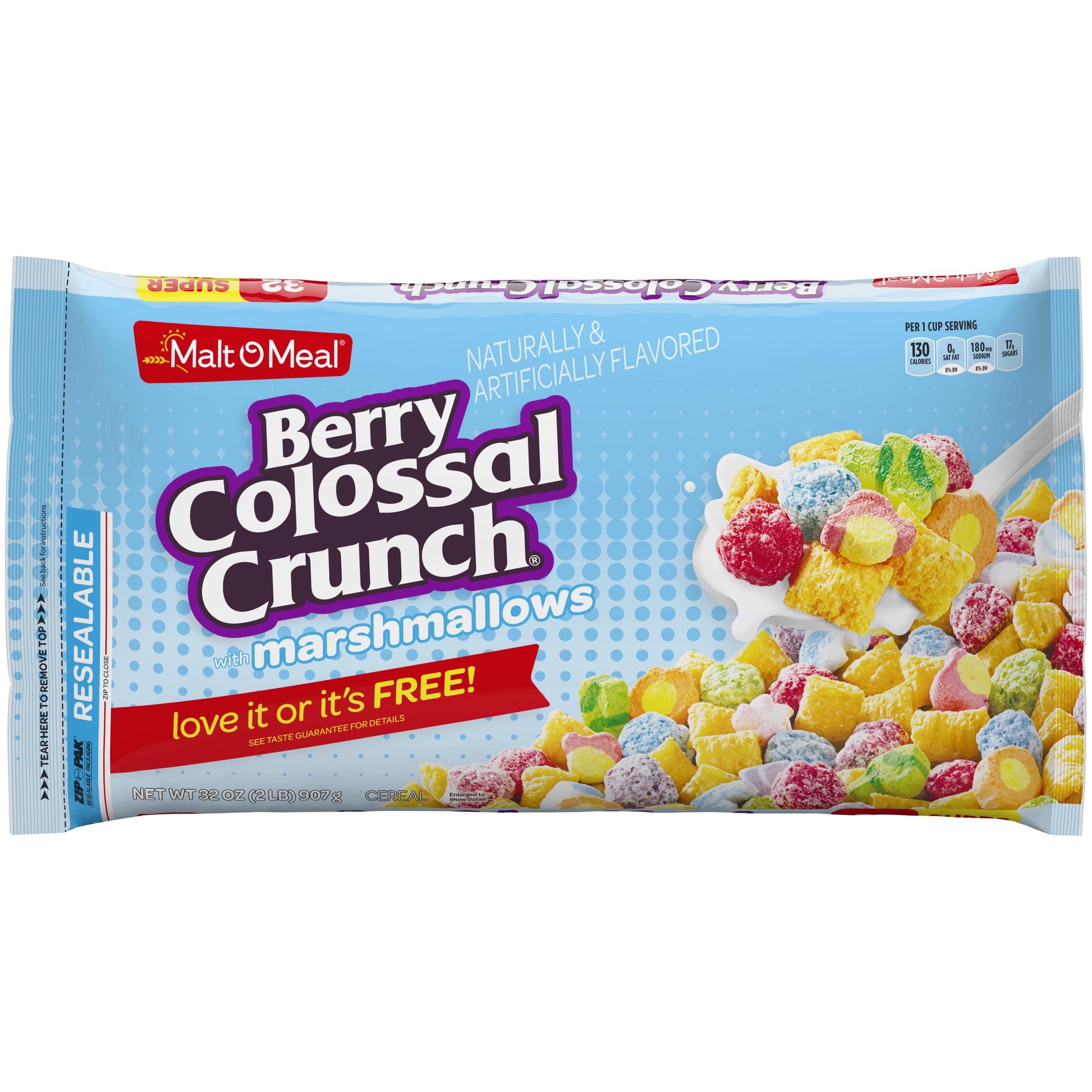 Malt-O-Meal Cereal, Berry Colossal Crunch, Marshmallows, 32 Oz, Bag
