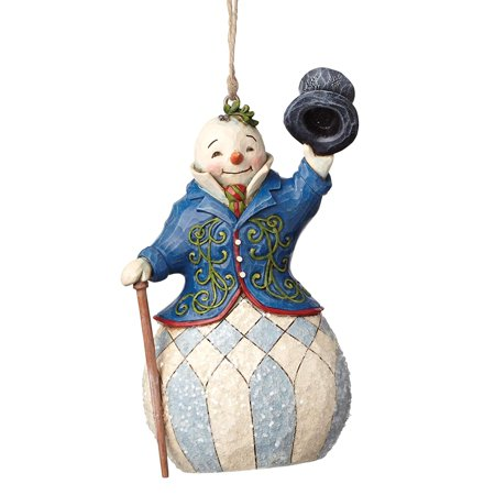 "Jim Shore Heartwood Creek Victorian Santa Stone Resin Hanging Ornament, 5.125"", ""Victorian Snowman"" hanging ornament from the Jim Shore Heartwood Creek.., By Jim Shore for Enesco"