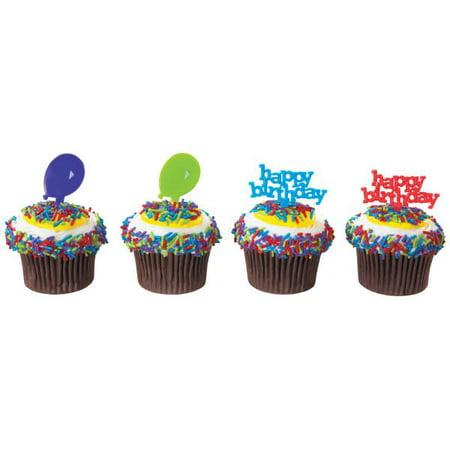 Happy Birthday and Balloons DecoPics® 12 Count