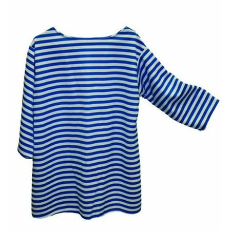 Alexander Costume 22-229-BL -Striped Shirt - Blue, Extra Large