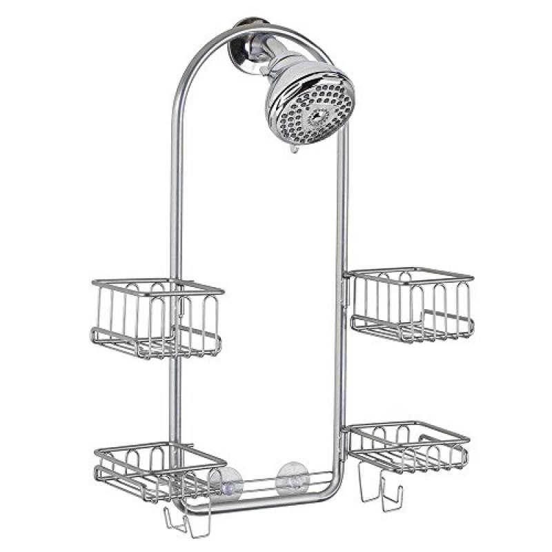 InterDesign Classico Hand Held Shower Heads Bathroom Caddy for Tall Shampoo Bottles and... by
