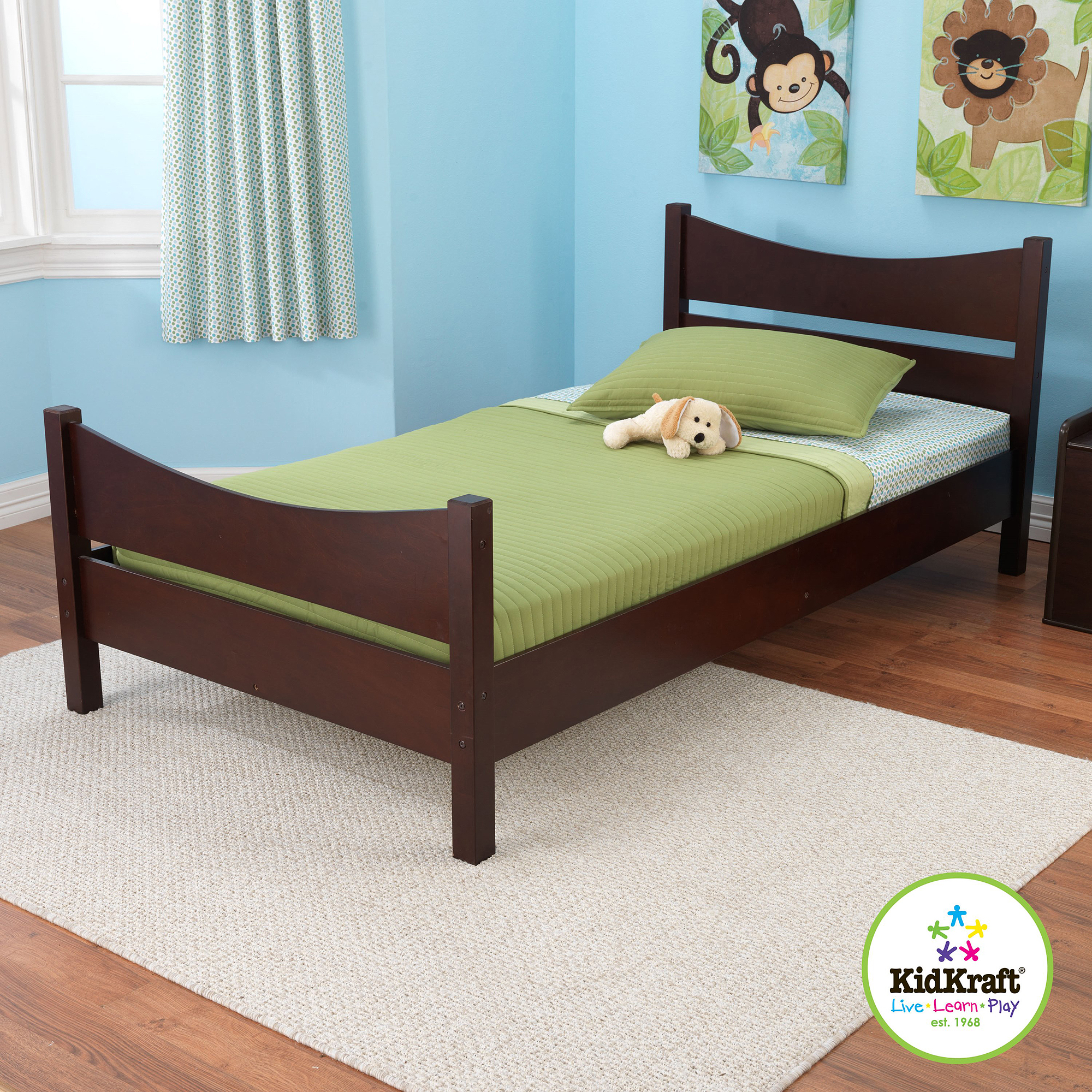 KidKraft Addison Twin Bed, Espresso