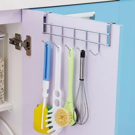 Over Door Home Rack Hook Organizer Bathroom Kitchen Coat Towel Hanger Rack Holder Shelf 5 Hooks