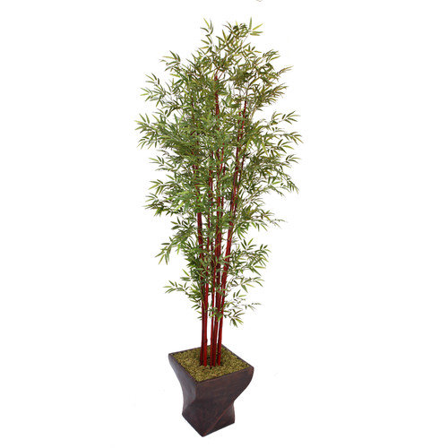 Laura Ashley 102 Inch Tall Harvest Bamboo Tree in 17 Inch Fiberstone Planter
