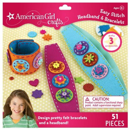 American Girl Crafts Easy Stitch Headband and Bracelets - Kit Bond