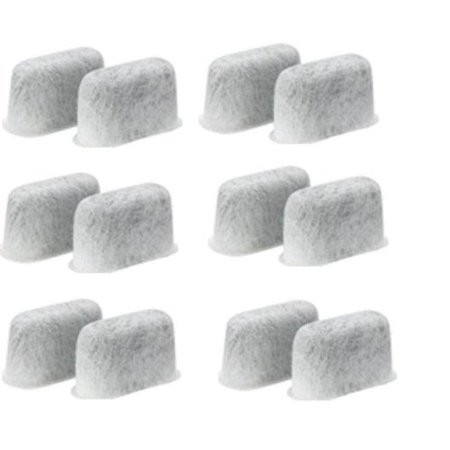 Newhouse Charcoal Filters (12-Pack) Replacement Charcoal Water Filters for Cuisinart Coffee -