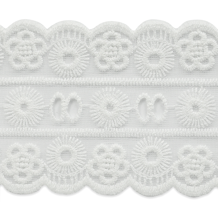 "Expo Int'l 2 yards of Leila 2 3/4"" Classic Galloon Scalloped Lace Trim"