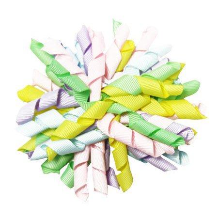 Wholesale Ribbon (Wholesale Princess Pretty Pastel Rainbow Curly Ribbon Korker Hair)