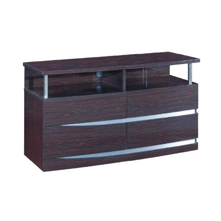 Contemporary Wenge Finish TV Entertainment Unit Global United Wynn ()