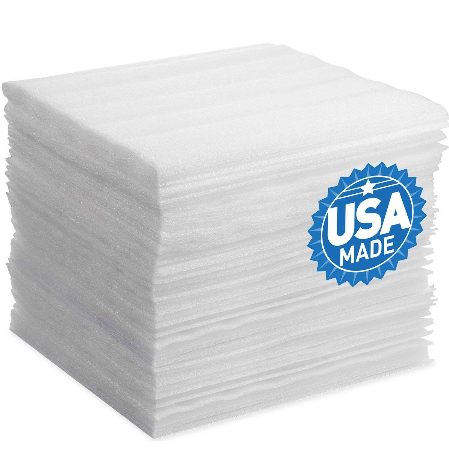 """Foam Wraps, DAT 12"""" x 12"""" 50-Pack Foam Sheets Cushioning for Moving Storage Packing and Shipping Supplies, 1/8"""" Thick"""