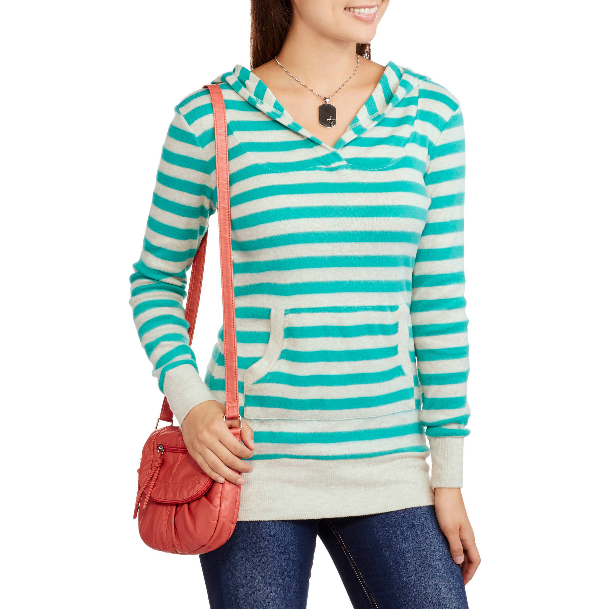 Juniors' Brushed Super-Soft Tunic Pullover Hoody