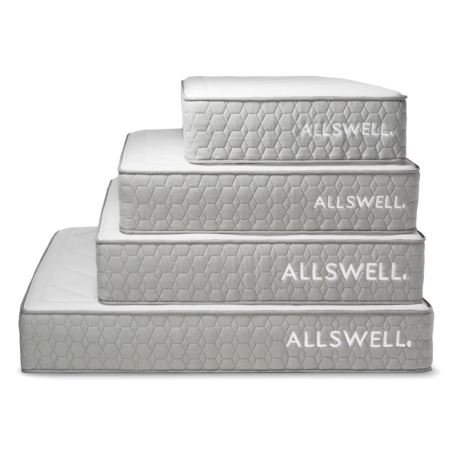 Belham Living Merced Platform Cart Bed with Allswell Mattress