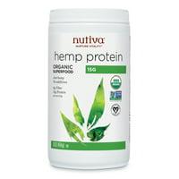 Nutiva Organic Hemp Protein Powder, Unflavored, 15g Protein, 1.0lb, 16.0oz