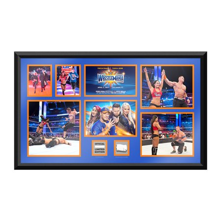 - Official WWE Authentic John Cena & Nikki Bella vs. The Miz & Maryse WrestleMania 33 Unsigned Commemorative Plaque Red