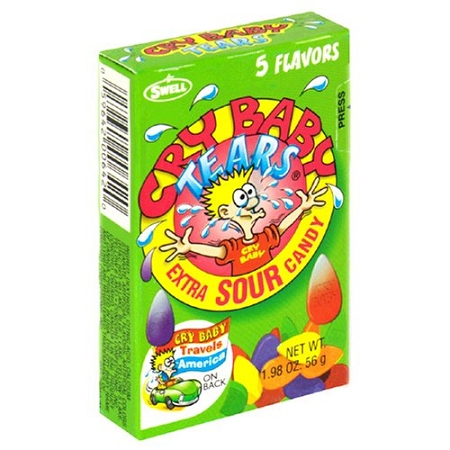 Cry Baby Tears Sour Candy, (Pack of 24)