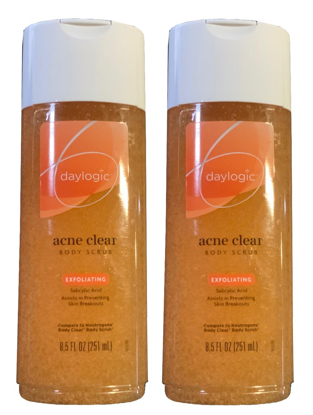 Daylogic 2 Pack Acne Clear Exfoliating Body Scrub Salicylic Acid