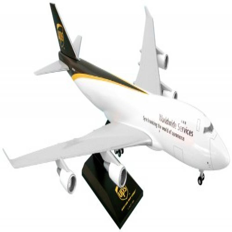 Daron Skymarks Ups 747-400F Airplane Model Building Kit with Gear, 1/200-Scale