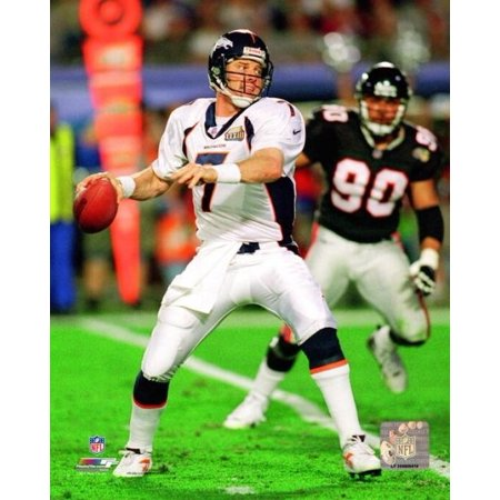 John Elway Super Bowl XXXIII Action Photo Print John Elway Signed Photograph