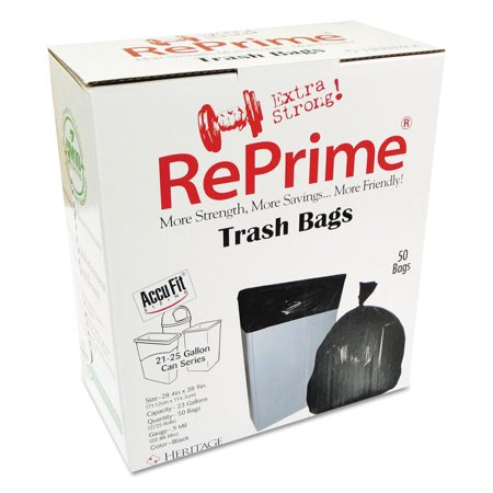 Reprime Black Can Liners, 23 gal, 50 ct