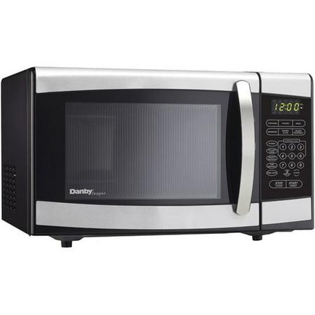 Danby 0 7 Cu Ft Countertop Microwave Stainless Steel